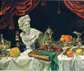 still life with silver ware 1962 Giorgio de Chirico Metaphysical surrealism