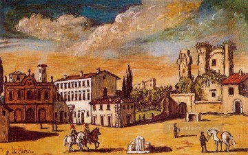 cityscape Giorgio de Chirico Metaphysical surrealism Oil Paintings