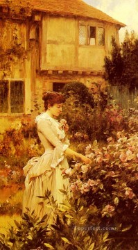 red Oil Painting - A Labour Of Love Alfred Glendening