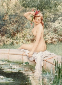 Alfred Glendening Painting - Daydreaming Alfred Glendening JR woman