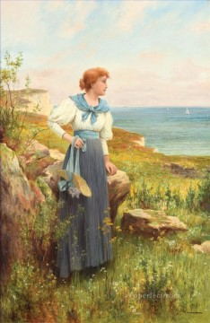 Artworks by 350 Famous Artists Painting - Summertime Alfred Glendening JR woman