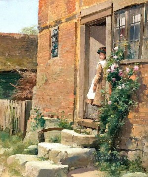 Artworks by 350 Famous Artists Painting - The Cottage Door Alfred Glendening JR