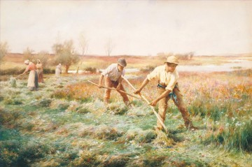 Artworks by 350 Famous Artists Painting - Haymaking Alfred Glendening JR rural countryside