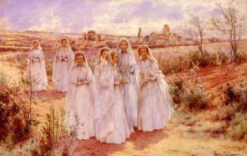 Return Art - Returning From Confirmation landscape Alfred Glendening