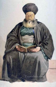 Charles Gleyre Painting - Armenian Priest Smyrna Marc Charles Gabriel Gleyre