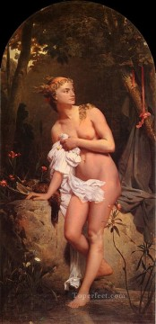 Charles Gleyre Painting - Diana nude Marc Charles Gabriel Gleyre