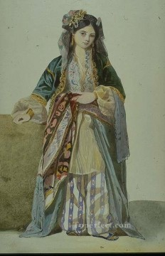 Turkish Woman Annetta Smyrna Marc Charles Gabriel Gleyre Oil Paintings