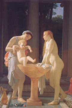 Bath Painting - The Bath nude Marc Charles Gabriel Gleyre