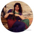 A Congenial Task Neoclassicist lady John William Godward