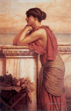by Works - By the Wayside 1912 Neoclassicist lady John William Godward