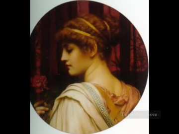 Chloris 1902 Neoclassicist lady John William Godward Oil Paintings