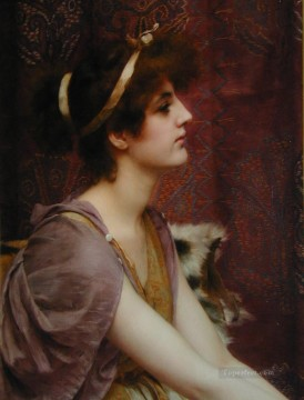 william - Classical Beauty cropped Neoclassicist lady John William Godward