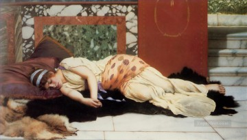 Endymion 1893 Neoclassicist lady John William Godward Oil Paintings