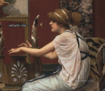 william art painting - Erato at her lyre Neoclassicist lady John William Godward
