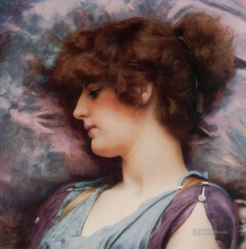 william art painting - Far Away Thoughts a Neoclassicist lady John William Godward