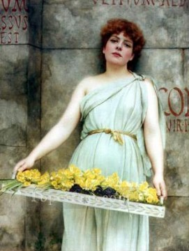 Flower Seller 1896 Neoclassicist lady John William Godward Oil Paintings