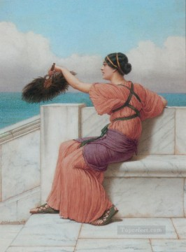 Fond Farewell Neoclassicist lady John William Godward Oil Paintings