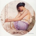 Grecian Girl 1908 Neoclassicist lady John William Godward