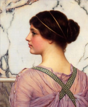 Love Painting - Grecian Lovely Neoclassicist lady John William Godward