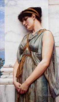 Grecian Reverie Neoclassicist lady John William Godward Oil Paintings