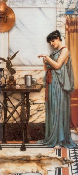 Day Painting - His Birthday Gift Neoclassicist lady John William Godward