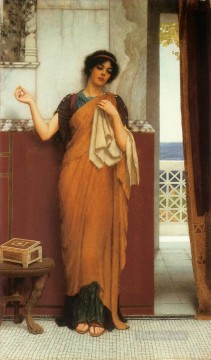 1898 Works - Idle Thoughts 1898 Neoclassicist lady John William Godward