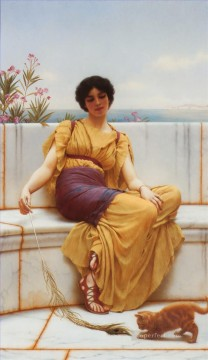 1900 Works - Idleness 1900 Neoclassicist lady John William Godward
