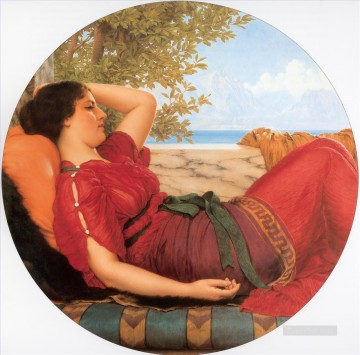 william art painting - In Realms of Fancy Neoclassicist lady John William Godward