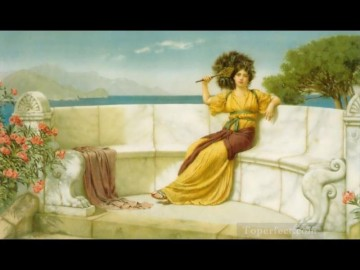 Summer Art - In the Prime of the Summer Time 1915 Neoclassicist lady John William Godward