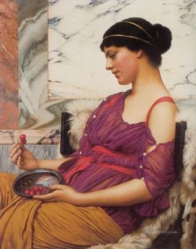 Ismenia 1908 Neoclassicist lady John William Godward Oil Paintings