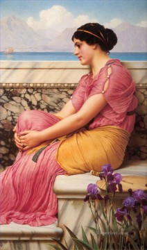 Heart Painting - Makes the Heart Grow Fonder Neoclassicist lady John William Godward