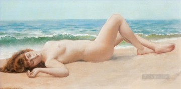 Nu Sur La Plage lady nude John William Godward Oil Paintings