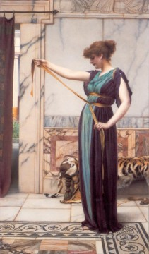 william - Pompeian Lady 1891 Neoclassicist lady John William Godward