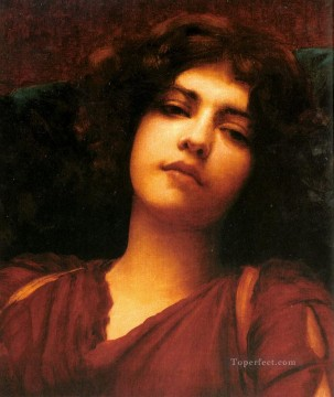 william art painting - ReverieStudy Neoclassicist lady John William Godward
