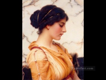 Sabinella 1912 Neoclassicist lady John William Godward Oil Paintings