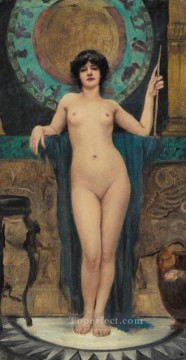 Study of Campaspe Neoclassicist lady John William Godward Oil Paintings