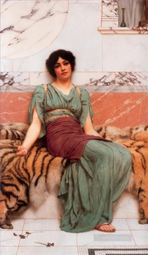Dream Painting - Sweet Dreams Neoclassicist lady John William Godward