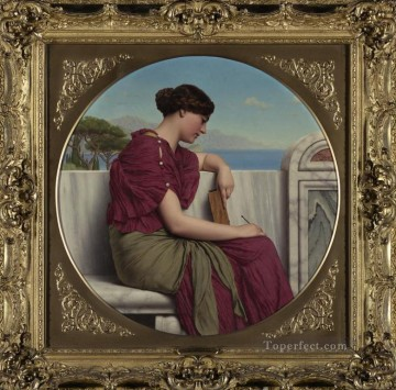 william art painting - The Answer Neoclassicist lady John William Godward