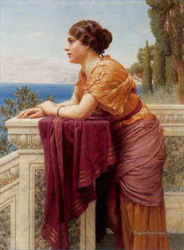 The Belvedere Neoclassicist lady John William Godward Oil Paintings