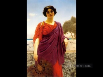 1903 Canvas - The Rendezvous 1903 Neoclassicist lady John William Godward