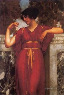 1898 Works - The Ring 1898 Neoclassicist lady John William Godward