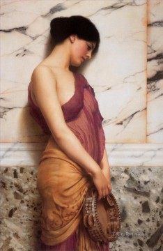 girl lady woman women Painting - The Tambourine Girl 1906 Neoclassicist lady John William Godward