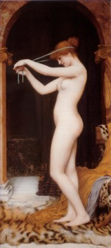Venus Binding Her Hair lady nude John William Godward Oil Paintings