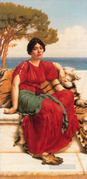 by Works - W By the Blue Ionian Sea 1916 Neoclassicist lady John William Godward