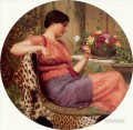 W The Time of Roses 1916 Neoclassicist lady John William Godward