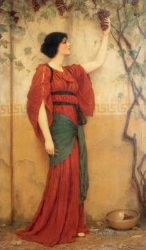 autumn Neoclassicist lady John William Godward Oil Paintings