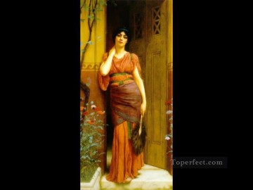 the Garden Door 1901 Neoclassicist lady John William Godward Oil Paintings