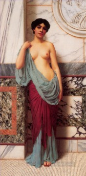 the Thermae Neoclassicist lady John William Godward Oil Paintings