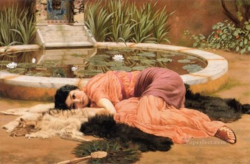 william - Dolce far niente Neoclassicist lady John William Godward