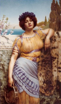Dancing Art - Ionian Dancing Girl Neoclassicist lady John William Godward